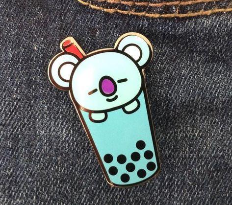 Koya BTS enamel pin, BT21 pins, Bubble tea enamel pin, Koya BT21, BTS pins, Bangtan, bts hard enamel pin, BT21 enamel pin Namjoon, kpop #bts #namjoon #namjoonbirthday #bangtan #bt21 #koya