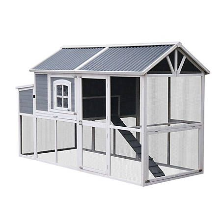 Innovation Pet Xlg Superior Deluxe Farm House With Pvc Roof 222 11 At Tractor Supply Co Pvc Roofing Tractor Supplies Roof Styles
