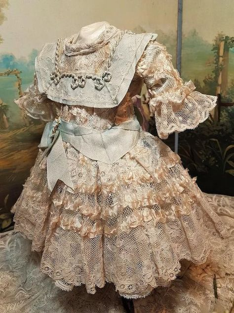 ~~~ Most Beautiful French Bebe Costume with Bonnet ~~~
