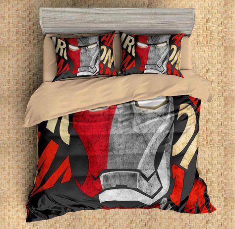 3d Customize Iron Man Bedding Set Duvet Cover Set Bedroom Set Bedlinen In 2020 Mens Bedding Sets Duvet Bedding Sets Duvet Cover Sets
