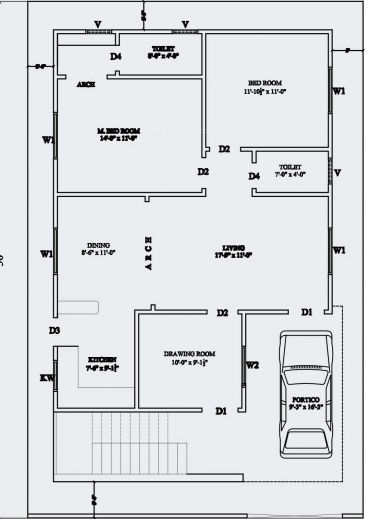 Inspiring 20 X 60 House Plan Design India Arts For Sq Ft Plans Designs Floor Indian House Plans For 1200 30x40 House Plans 30x50 House Plans Simple House Plans