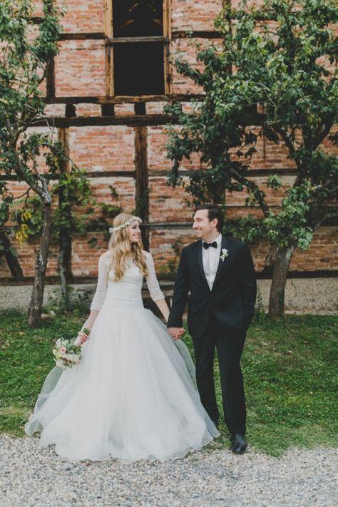 Hochzeitsfotos im Kornfeld Echte Hochzeiten