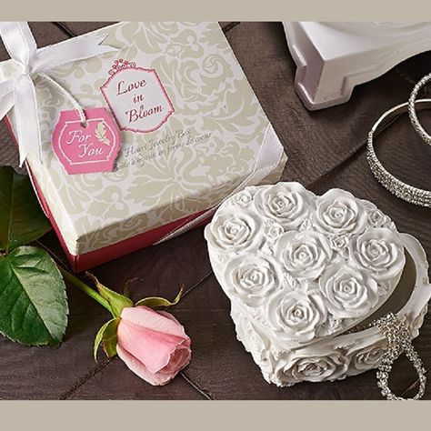 Love in Bloom Heart Jewelry & Trinket Box