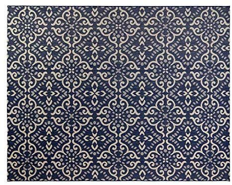 Amazon Com Gertmenian 21565 Nautical Tropical Carpet Outdoor Patio Rug 5x7 Standard Navy Floral Medallion G Outdoor Rugs Patio Patio Rugs Outdoor Gardens