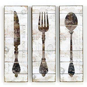 Knife Fork Spoon Wall Art