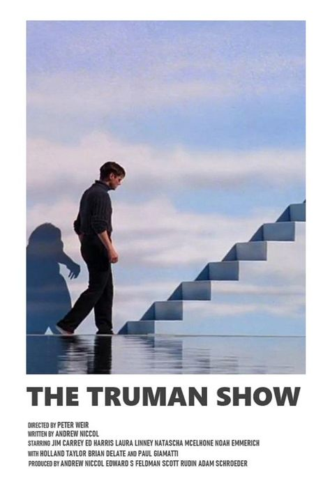 The Truman Show minimal A6 movie poster