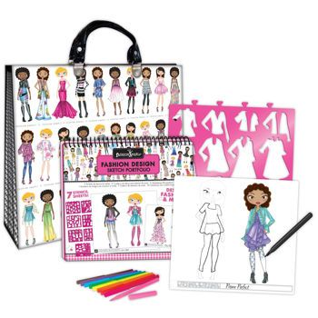 2014 Edition Fashion Angels Enterprises Glam Fashion Sketch Portfolio With Artist Deluxe Set Arts Crafts Craft Kits