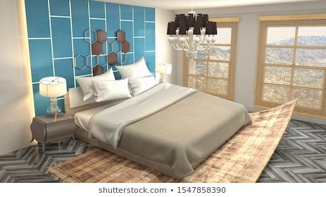 Zero Gravity Bed Hovering In Bedroom 3d Illustration Living Room