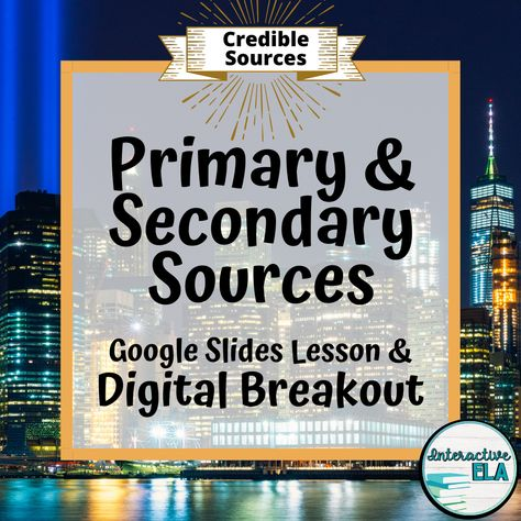 Nonfiction Writing: Primary vs Secondary Sources
