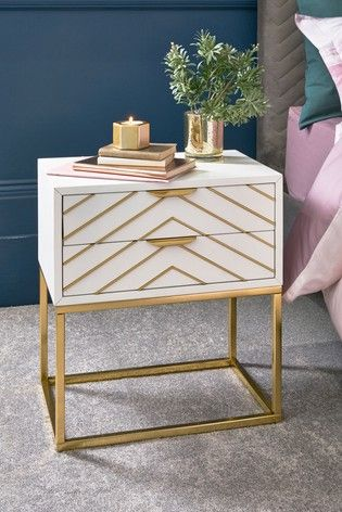 Lipsy Bedside Table In 2020 Bedside Table Small Bedside Table Mirrored Bedroom Furniture