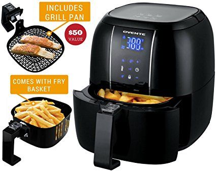Ovente Electric Air Fryer With 6 Preset Functions 3 2 Qt 1400