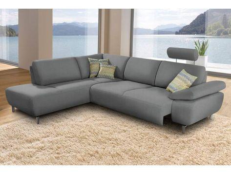 Ada Premium Eck Couch Rooney Grau Mit Sitztiefenverstellung In