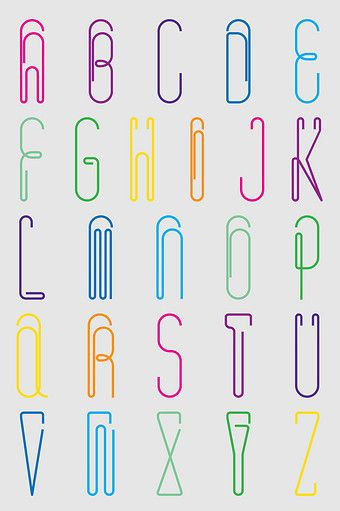 Vector Creative Paper Clip Abstract English Alphabet Png Images Ai Free Download Pikbest Lettering Alphabet Typography Alphabet Hand Lettering Alphabet