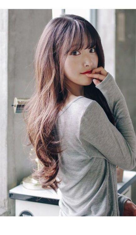 Best Hairstyles Korean Long Girls Ideas Korean Long Hair Long Hair Styles Girl Haircuts