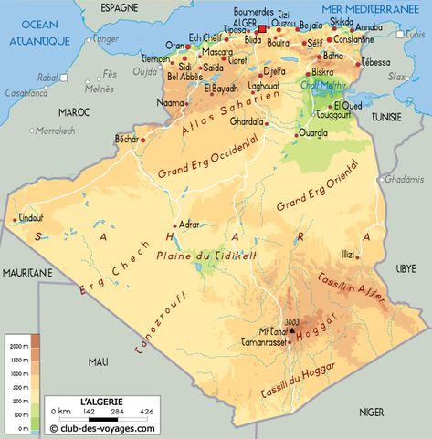 Carte De L Algerie Carte Algerie Alger Carte