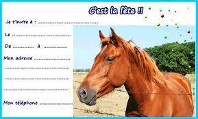 carte anniversaire cheval à imprimer gratuite Résultat de recherche d'images pour