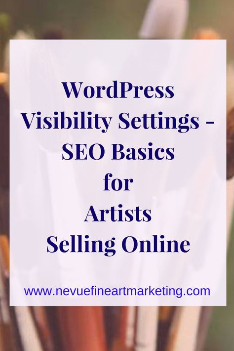 WordPress Visibility Settings - SEO Basics for Artists