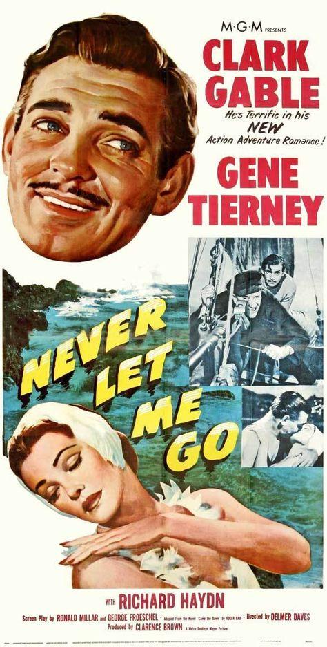 NEVER LET ME GO Movie POSTER 14x36 Insert Clark Gable Gene Tierney Bernard Miles | eBay
