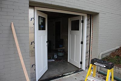 Double Door Garage Conversion With Images Garage Doors Garage Conversion Double Doors