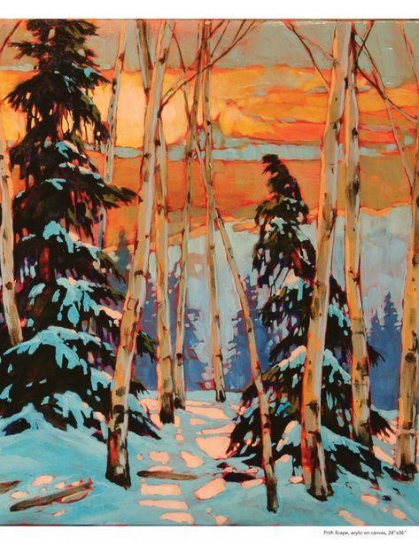 David Langevin Arabella In 2020 Landscape Art Art Tree Art