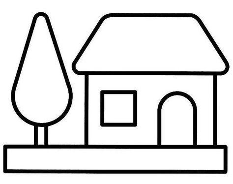 Dessin à Colorier Maison Bâtiments Et Architecture 20