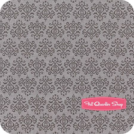 Tuxedo Collection Gray Small Damask  by Doodlebug Design for Riley Blake Designs