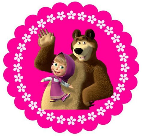 рисунок на день рождения маша и медведь этим