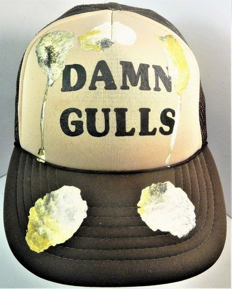 Vintage Novelty DAMN GULLS Bird Poop Trucker Snapback Mesh Hat Brown Cap   Unbranded  China  VtgTruckerHat  TruckerHat  NoveltyHat  Novelty   VintageSnapback ... 6562134f22ac