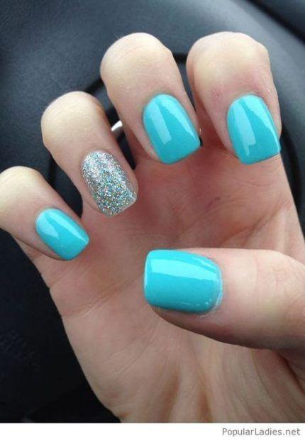 23 Ideas Nails Gel Simple Blue 23 Ideas Nails Gel Simple Blue Gelnailssimple In 2020 Blue Nail Designs Light Blue Nails Blue Acrylic Nails
