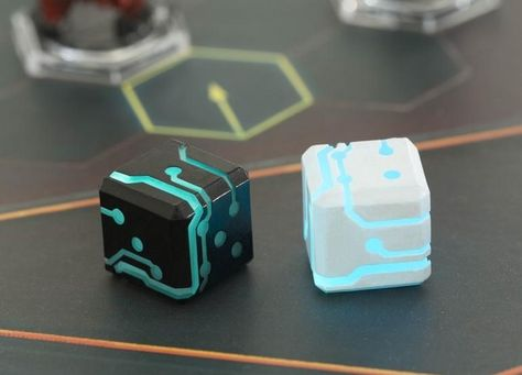 Space Roller dice from the future glow in the dark