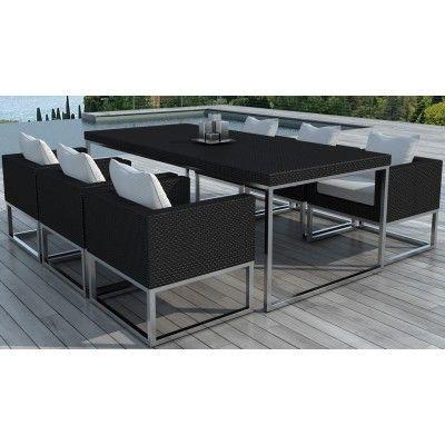 Table de jardin résine + 6 fauteuils Marbella | Escalier ...