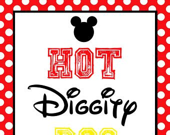 photograph regarding Hot Diggity Dog Bar Free Printable called Mickey+Mouse+Sizzling+Diggity+Canine Camerons to start with bday inside of 2019