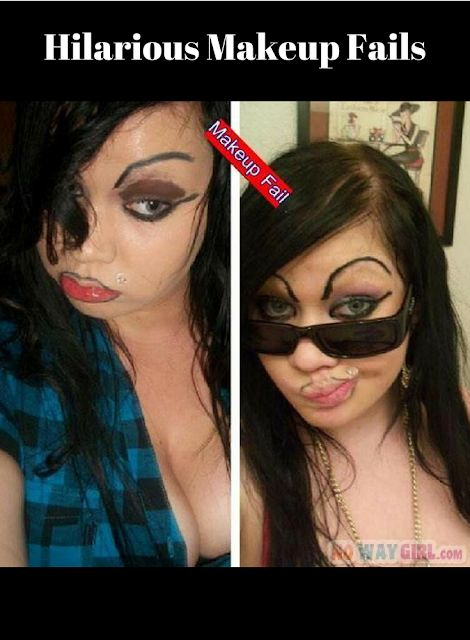 Hilarious Makeup Fails. So makeup is supposed to enhance our beauty, right? I hate to be mean...but do the following people know that? Because clearly they are putting in a LOT of effort and I don't think they're highlighting their best features. :-)  #rosaforlife
