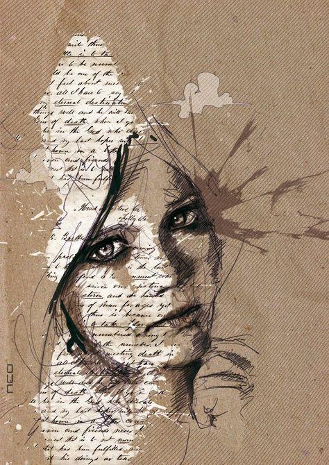 eva by neo innov - Amazing Portrait Illustrations by Florian Nicolle   <3 <3