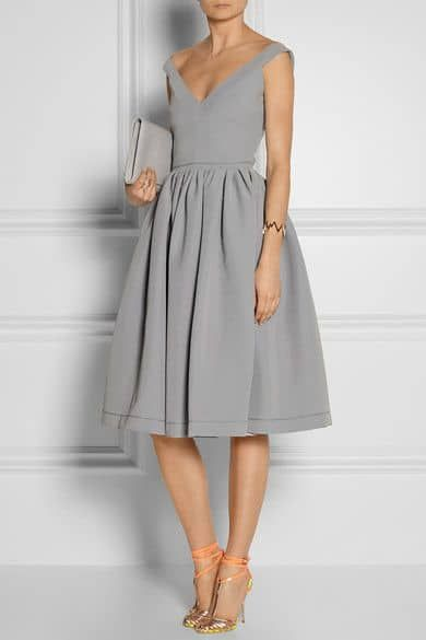 what shoes to wear with gray dress