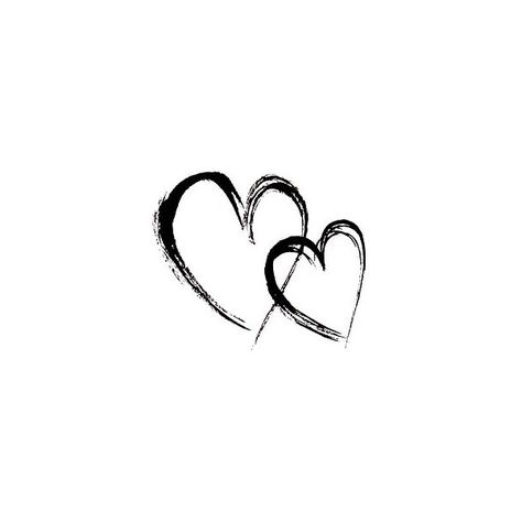 Penny Black Rubber Stamp, Linked Hearts ❤ liked on Polyvore featuring fillers, hearts, backgrounds, decorations, doodles, quotes, text, effects, embellishments and details