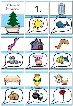 Zaubereinmaleins Designblog Mit Bildern Lesen Lernen 1 Klasse Reimworter Zaubereinmaleins