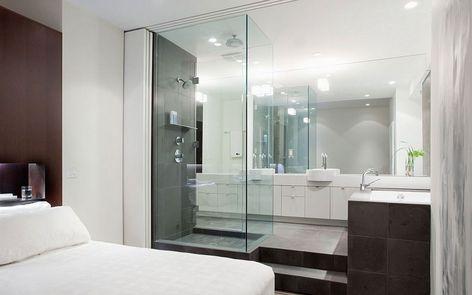 Open Concept Bathroom Google Search Open Bathroom Open