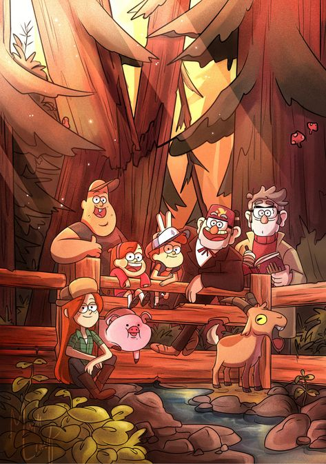 Gravity Falls,фэндомы,GF Арт,GF art,Soos,GF Персонажи,Stanford Pines,Stanley Pines,Dipper Pines,Mabel Pines,Wendy Corduroy,Waddles,Gompers