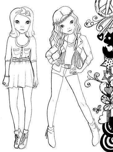 Francesca Und Camila Fran Und Cami Violetta Ausmalbild Ausmalbilder Topmodel Ausmalbilder Top Model Malen Topmodel Malbuch
