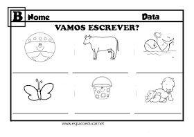 Caderno De Escrita Ficha Com A Letra B Caderno De Escrita