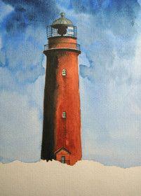 Dein Online Aquarell Malkurs Leuchtturm Darsser Ort Leuchtturm