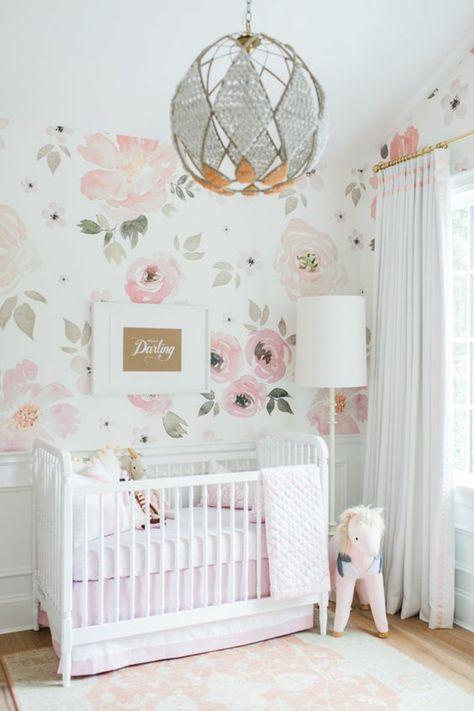 1001 Ideen Fur Babyzimmer Madchen Rosentapete Rosen Tapete