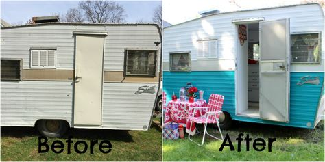 Best Trailers Images On Pinterest Vintage Campers Vintage - Old shabby trailer gets one hell makeover