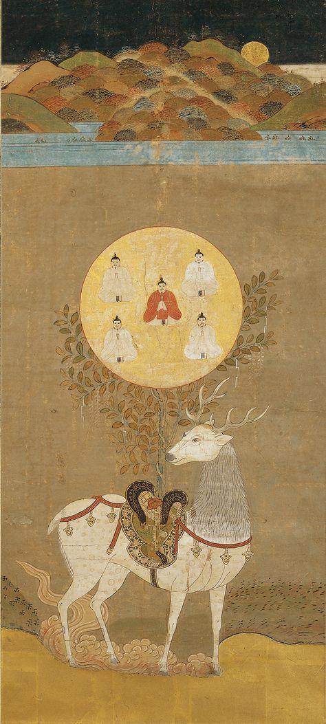 Deer Mandala of the Kasuga Shrine (春日鹿曼荼羅) - Muromachi ...