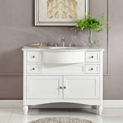 Bellaterra 45 Single Sink Bathroom Vanity Sable Walnut Cream Top 7614 Sw Cr Single Sink Vanity Vanity Sink Bathroom Vanity
