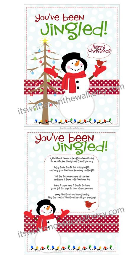 You've Been Jingled Printable / Christmas / Tags plus | Etsy