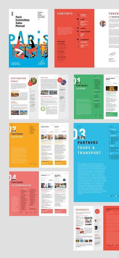 Charte Graphique De L Office De Tourisme De Paris Grapheine Agence De Communication Paris Lyon Magazine Layout Design Page Layout Design Book Design Layout
