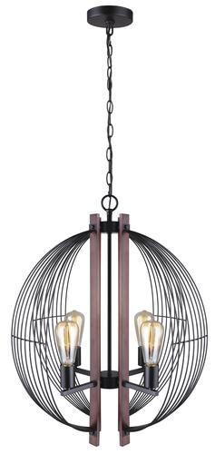 Patriot Lighting Gage 4 Light Black With Wood Accents Chandelier Black Chandelier Wood Accents Chandelier Lighting