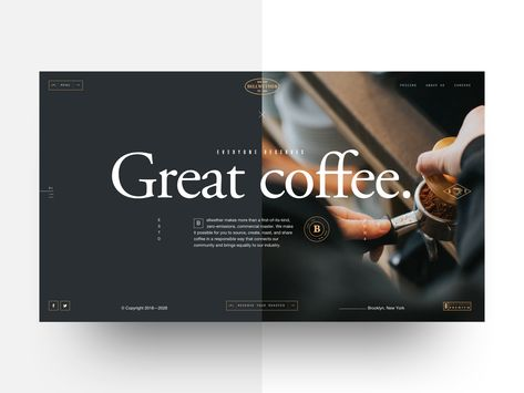 Bellwether Coffee - Landing concept